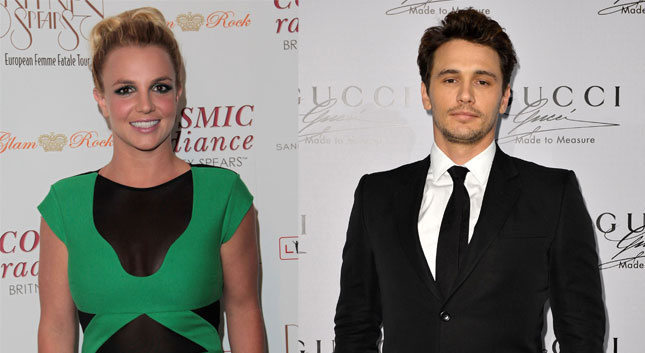 ¡Britney quiere a James Franco como Christian Grey!