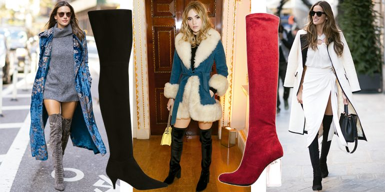 3 Estilos para usar botas 'over the knee'