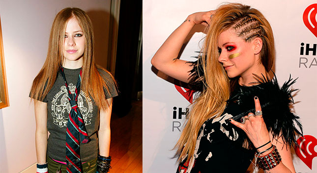 7 Looks que todas quisimos copiarle a Avril Lavigne