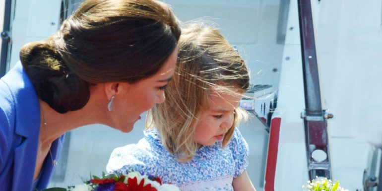 Berrinche de la princesa Charlotte hace enojar a Kate Middleton +VIDEO