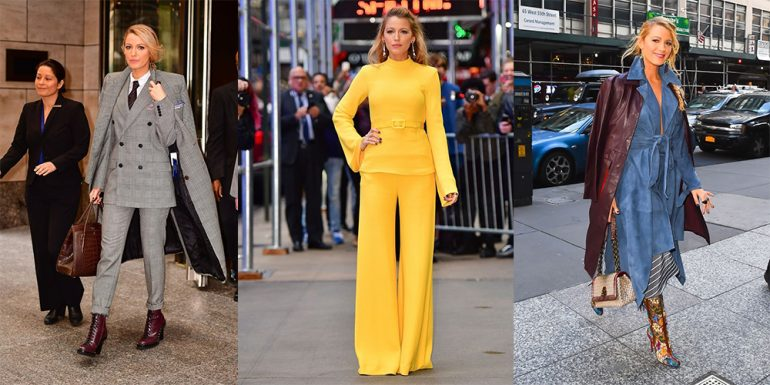 Blake Lively rompe récord al usar 7 outfits diferentes en 24 horas