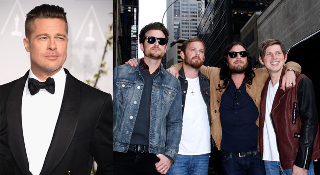 Brad Pitt quiere que Kings of Leon cante en su boda