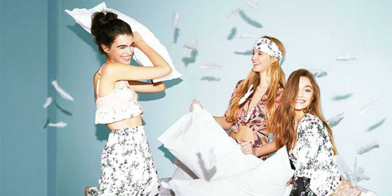 Looks perfectos para una pijama party con amigas