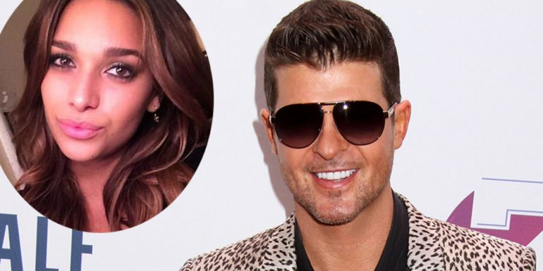 Se rumora que Robin Thicke sale con April Love...