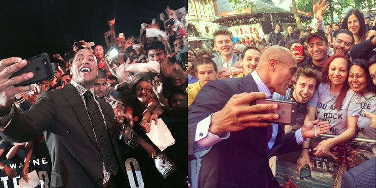 'The Rock' rompe récord mundial de 'selfies'