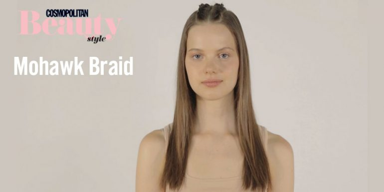 #Tutorial: Edgy mohawk braid